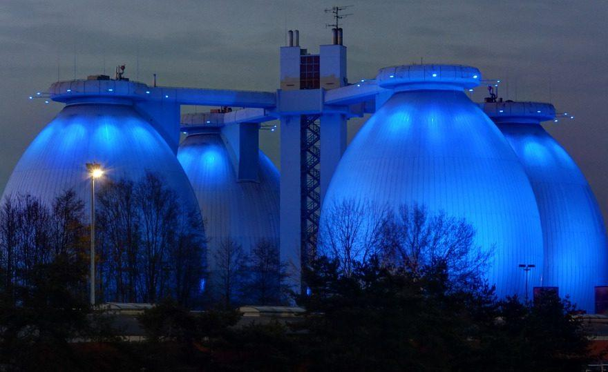 Kläranlage,Biogas